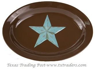 Texas Size Platter with the Texas Lone Star