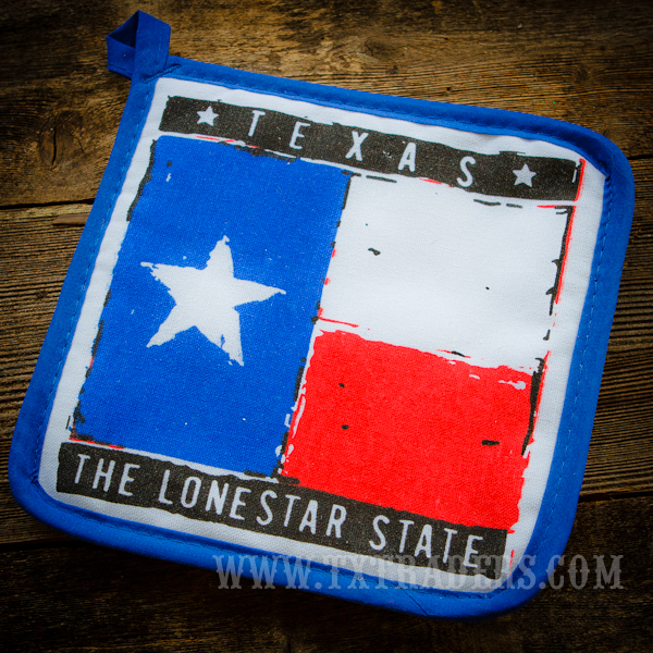 Potholder with Texas Flag and Lone Star State