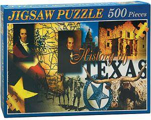 Collage of History of Texas Puzzle