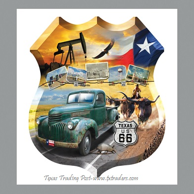 Texas Jigsaw Puzzle - Texas US Route 66