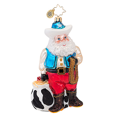 "Christopher Radko ""Rootin' Tootin' Nick"" Christmas Ornament"