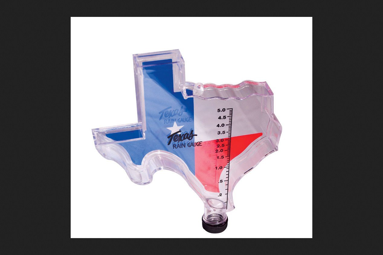 Texas Shaped Rain Gauge