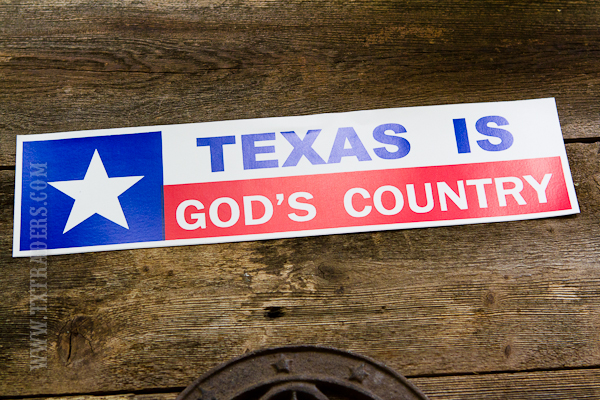 Texas is God's Country Bumper Sticker