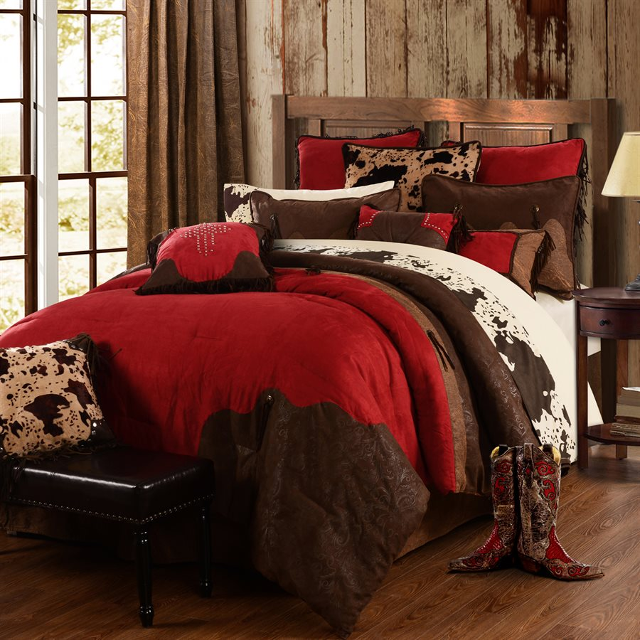 Red Rodeo 4 Piece Texas Comforter/Bed Set - Twin - Texas Bedspread