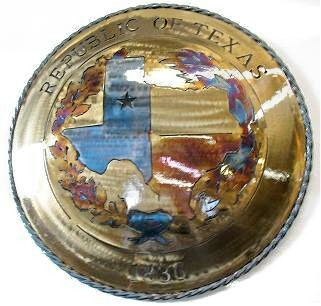 "Texas Metal Art ""Republic of Texas"" 1836"
