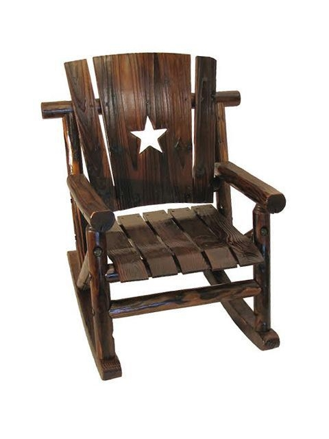 Kids Texas Rocking Chair with the Texas Lone Star