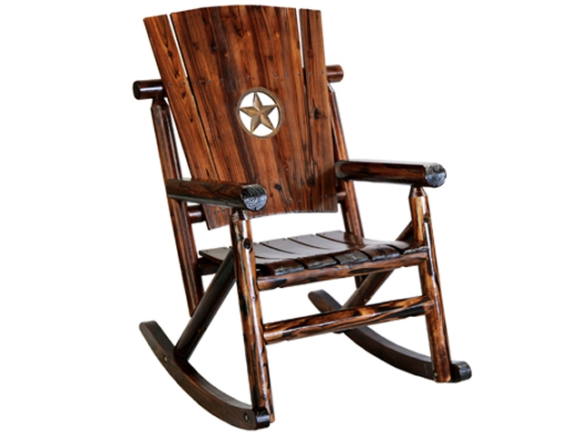 Texas Rocking Chair with the Texas Lone Star