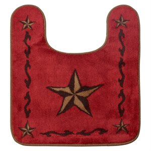 Texas Lone Star Red Rug to Put Around the Commode