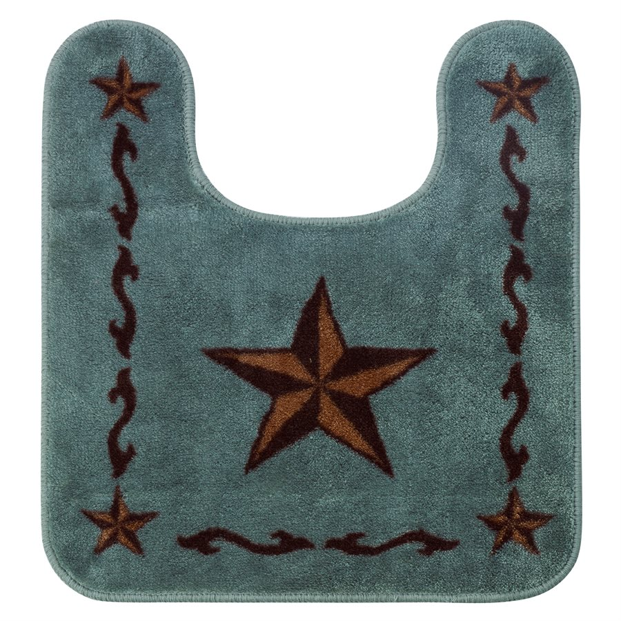 Texas Lone Star Turquoise Rug to Put Around the Commode