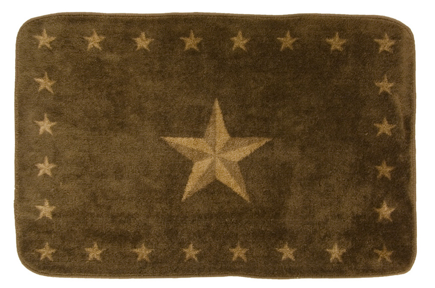 Rustic Star Dark Chocolate Rug For Your Texas Decor