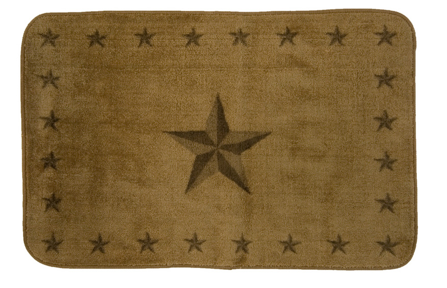 Rustic Star Light Chocolate Rug for your Texas & Western Decor