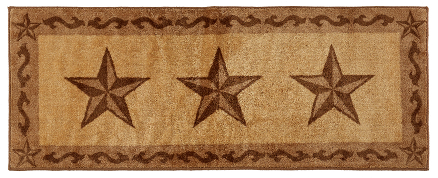 "Texas Lone Star Chocolate Rug - 24"" x 60"""