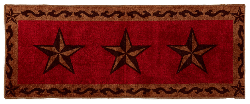 "Texas Lone Star Red Rug - 24"" x 60"""