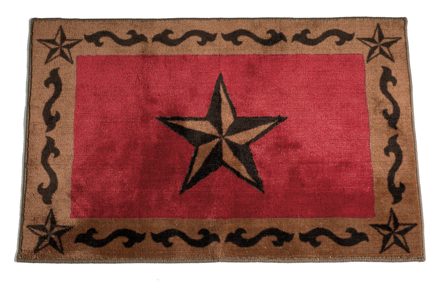 Rustic Star Red Rug for your Texas & Western Decor