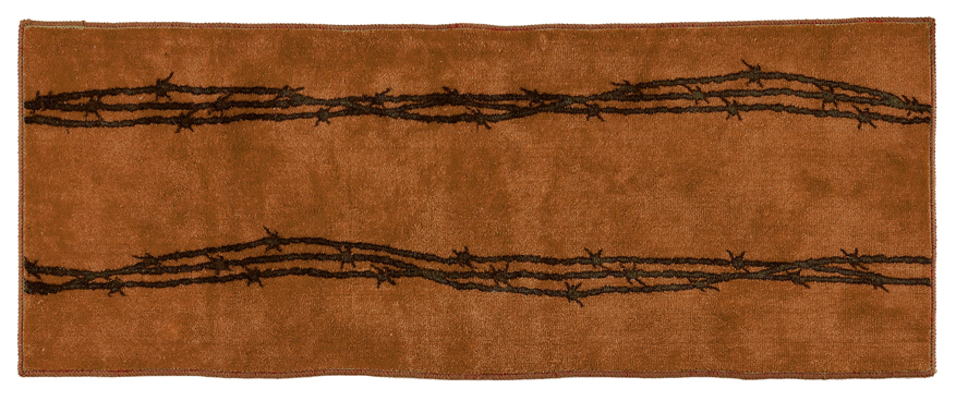 "Texas Barbwire Chocolate Rug - 24"" x 60"""