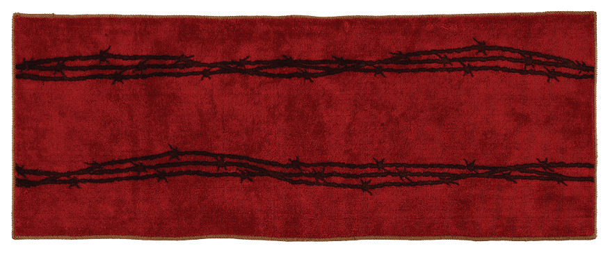 "Texas Barbwire Red Rug - 24"" x 60"""