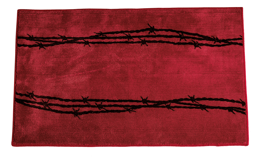 Barb Wire Red Rug for your Texas & Western Decor