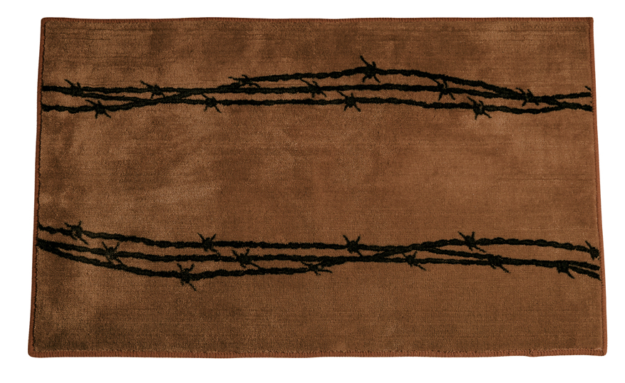 Barb Wire Chocolate Rug for your Texas & Western Decor