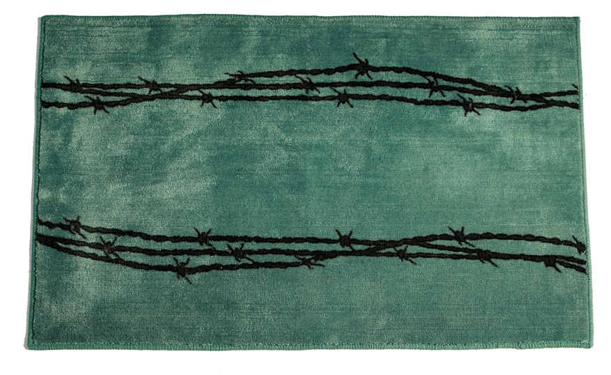 Barb Wire Turquoise Rug for your Texas & Western Decor