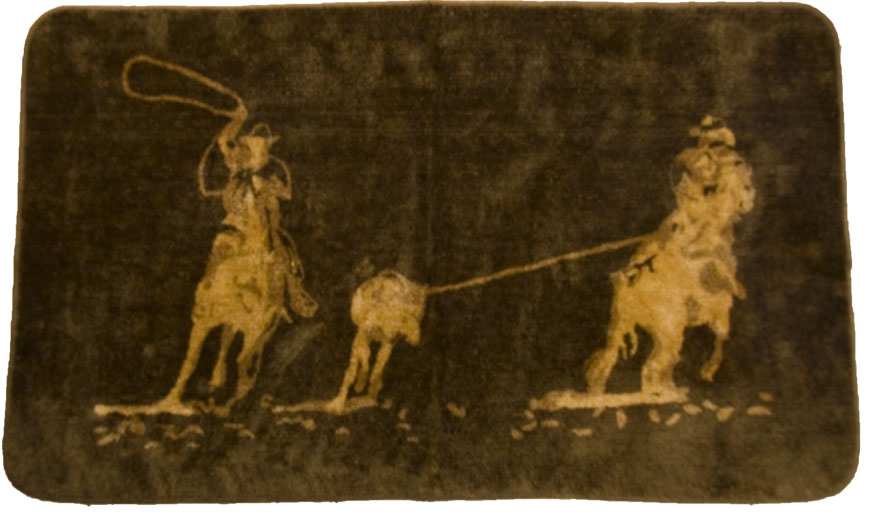 team roper rug for your western decor