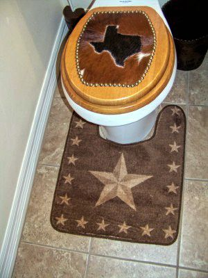 Rustic Star Rug To Put Around The Commode