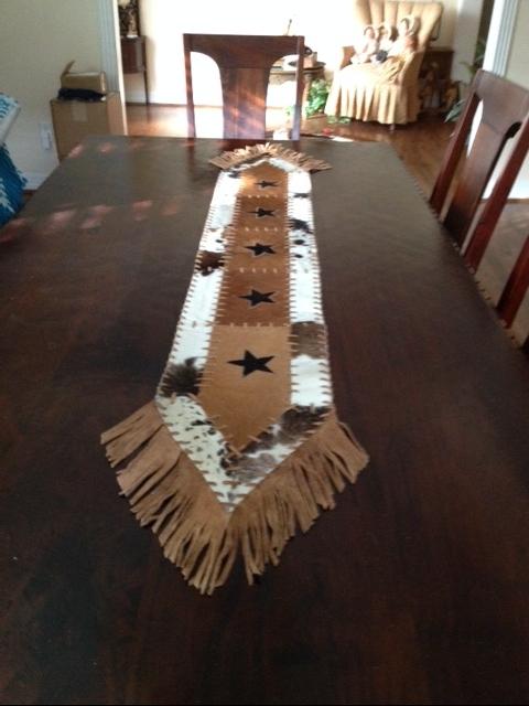 Texas Cowhide Rugs Table Runners Coasters