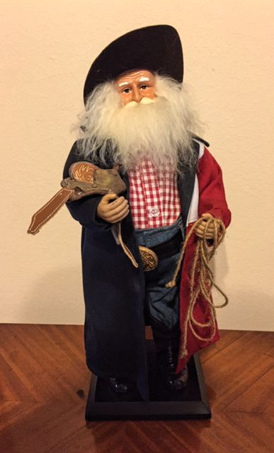 "18"" Texas Christmas Santa - Texas Duster"