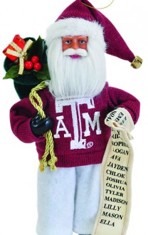 Texas Aggie Santa Ornament - Texas A&M Christmas Santa