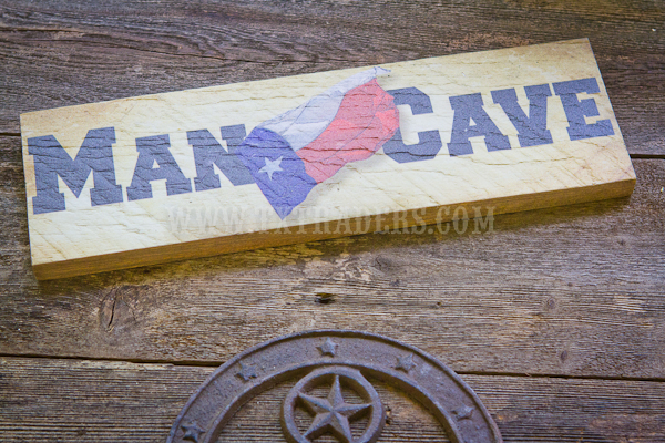 Barnwood Art - Man Cave with the Texas Flag