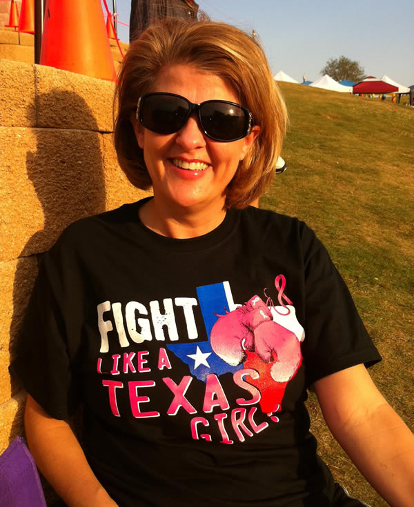Cancer T-Shirt - Fight Like a Texas Girl