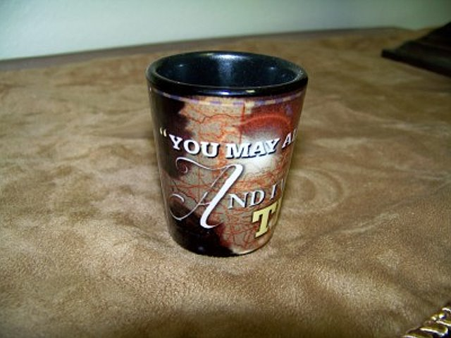 Texas Shot Glass with Davy Crockett Quote
