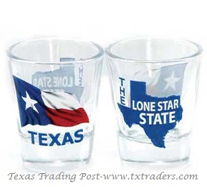 Texas Shot Glass - Texas Lone Star State