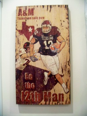 Vintage Texas A&M Sign-Be the 12th Man