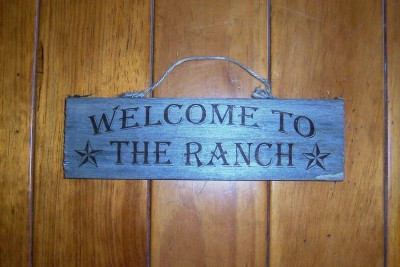 Texas sign Welcome to the Ranch
