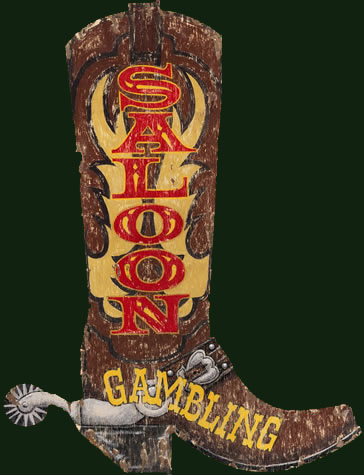 Texas Boot and Saloon Vintage Sign