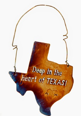"Tin Sign ""Deep in the Heart...""Texas Gift & Decor"