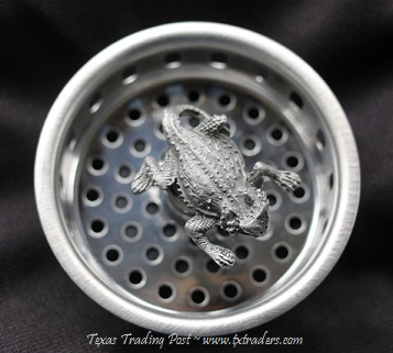 Kitchen Sink Strainer with our Texas Horny Toad
