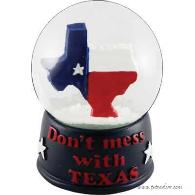 Snow Globe - Texas Map & Don't Mess with Texas