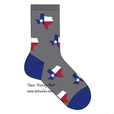 Texas Socks with our Texas Map - Unisex