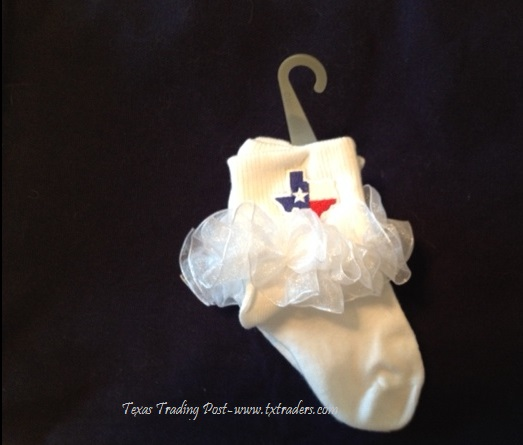 Socks for your favorite little Texan-TuTu Lace & Texas Map