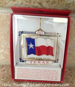 Spinner Ornament with the Texas Flag and 1845