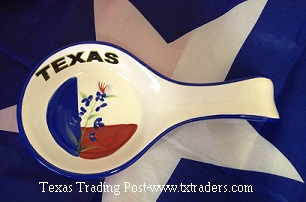 Spoon Rest with Bluebonnet and our Texas Flag