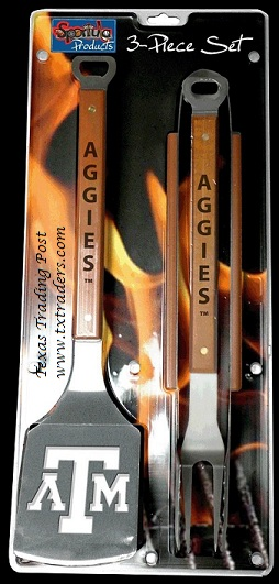 Sportula Texas Aggies-3 piece-Great for Tailgating BBQ Set