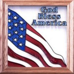 Texas Glass Art - God Bless America