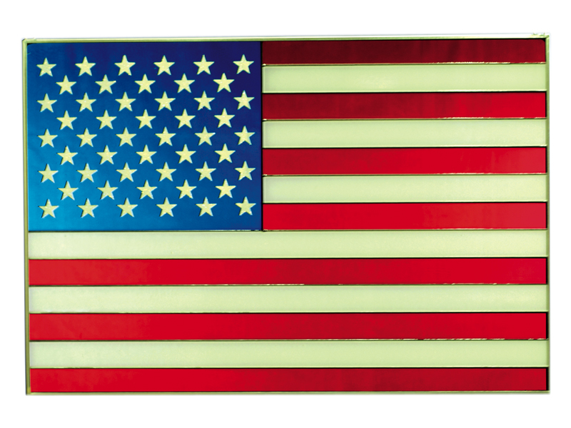 American Flag - Hand Painted Glass Art