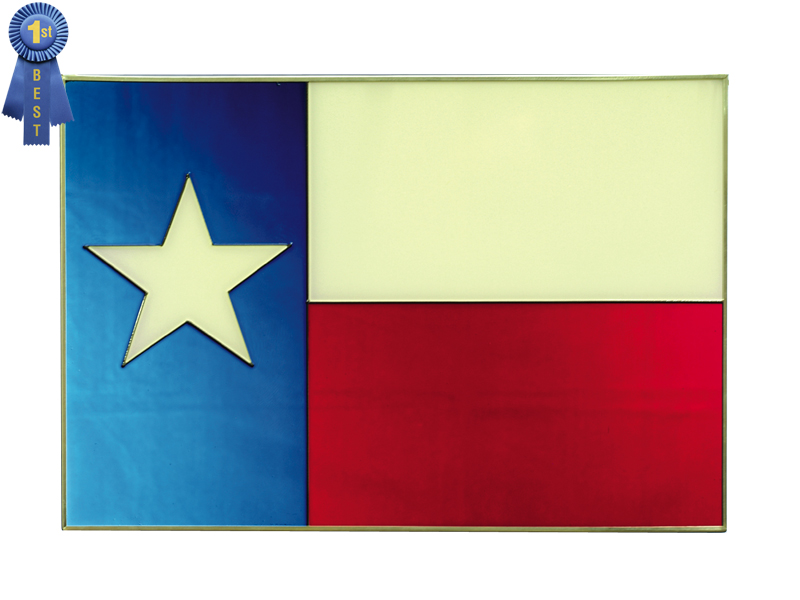 A Texas Flag Hand Painted Glass Art