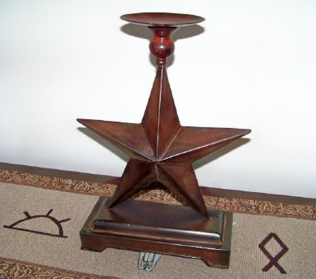 Texas Size Texas Lone Star Pillar Candle Holder