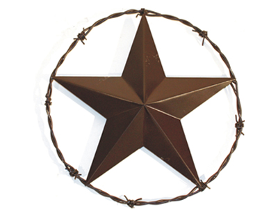 Texas Lone Star with Barb Wire