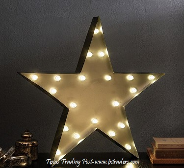 Lighted Texas Lone Star - for inside or out!
