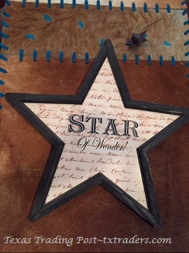 Texas Lone Star Christmas Ornament - Star of Wonder - Brown